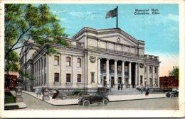 Ohio Columbus Mmemorial Hall 1927 - Columbus