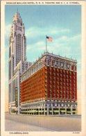 Ohio Columbus Deshler Wallick Hotem R K O Theatare & American Insurance Union Citadel Curteich - Columbus