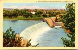 Ohio Columbus Storage Dam On Scioto River Curteich - Columbus