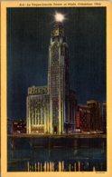Ohio Columbus Le Veque-Lincoln Tower At Night Curteich - Columbus