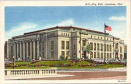 Ohio Columbus City Hall Curteich - Columbus
