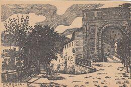 PERUGIA-PORTA EBURNEA-MEDIOEVALIS-CARTOLINA NON VIAGGIATA.ANNO 1925-1930-EDIZIONI G.TILLI - Perugia