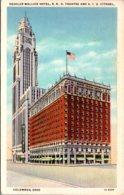 Ohio Columbus Deshler Wallick Hotel R K O Theatre And A I U CItadel 1935 Curteich - Columbus