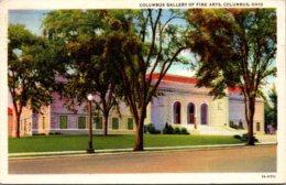Ohio Columbus Gallery Of Fine Arts 1936 Curteich - Columbus
