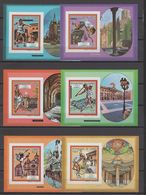 Guinea 1987 Olympic Games Barcelona, Tennis Etc. Set Of 6 S/s Imperf. MNH -scarce- - Ete 1992: Barcelone