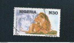 N° 610 Lion Timbre Nigéria (1993) Oblitéré - Nigeria (1961-...)