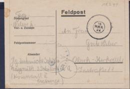 German Feldpost WW2: Flieger Technische Schule In Bayreuth P/m 19.3.1944 - Letter (G114-16) - Seconda Guerra Mondiale