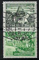 ALLEMAGNE 1939:  Le Y&T 656a  Obl. CAD - Se-Tenant