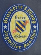 ETIQUETTE BIERE - BIERE D'ALSACE, PRESSION - BRASSERIE FHOOG, JNGMILLER, BAS RHIN - ETAT VOIR SCAN - Cerveza
