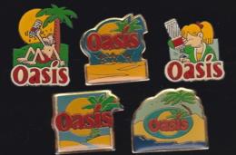 66336-Série De 5 Pin's.Oasis. Société D'eaux Volvic. Appartenant à Orangina Suntory France - Beverages