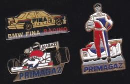 66338-Lot De 3 Pin's.Rallye Automobile.F1.BMW.Butagaz. - Rally