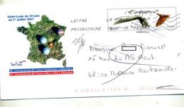 Pap Choregraphie Flamme Chiffrée + Retour Illustré Petanque - Entiers Postaux