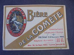 ETIQUETTE BIERE - BIERE  DE LA COMETE , VOIR SCAN - Bier