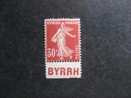 "TB  N° 360b, Neuf XX. Avec PUB  Inférieure ""  BYRRH "". - Advertising"