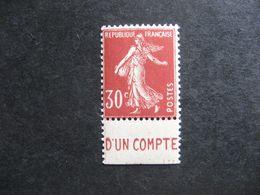 "TB  N° 360b, Neuf XX. Avec PUB  Inférieure ""  C.C.P. "". - Advertising"