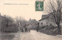 70 - CPA  AUBIGNEY Rue De PESMES - Sonstige Gemeinden
