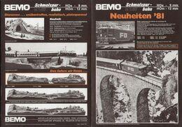 CatalogueBEMO 1981 Neuheiten Schmalspur-Bahn HOe 9 Mm - HOm 12 Mm - Libri E Riviste