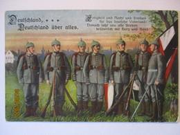 Deutschland über Alles, Einigkeit Und Recht Und Freiheit, Feldpost 35.ID (14106) - War 1914-18
