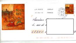 Pap  Voeux  Flamme Chiffree + Cachet Buhl - Entiers Postaux