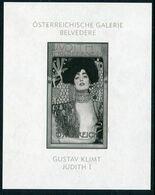 AUSTRIA 2003 Klimt Painting Black Print MNH / **.  Michel Block 22,  ANK   €15,- - Blocks & Sheetlets & Panes