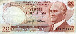 TURQUIE - Turkiye Cumhuriyet Merkez Bankasi - 20 Lira 1970 (1983) - Série I73 080355 - P.187b - P - Turquie