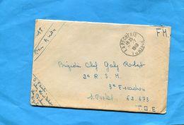 MARCOPHILIE-guerre D'indochine-lettre En FM -départ -Tunisie- 1948> 2ème R S H-SP 62643  T O E - Postmark Collection (Covers)