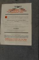 Wo2 Reclame Luchtbescherming Kelder Ets Fichet - 1939-45