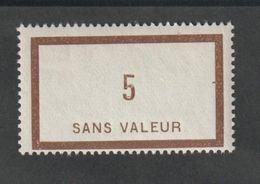 Fictif -  Emission 1932 -  F20 -  5  Brun  -    Neuf Sans Charnière - Phantom