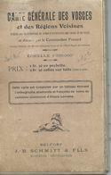 Carte Entoilée Des VOSGES (Et Régions Voisines).  1/320 000ème - Avant 1914/18. - Carte Geographique