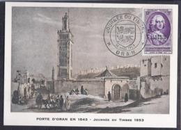 Carte Locale Journée Du Timbre 1953 Oran - Algeria (1924-1962)