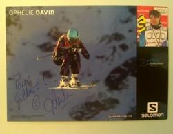 SKI - OPHELIE DAVID...Signature...Autographe Véritable..... - Handtekening