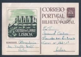 Postal Stationery Com Sobrecarga De Taxa Do Castelo De S. Jorge, Lisboa. Óbidos. Postal Stationery With Overcharge - Postal Stationery
