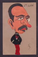 CPA Géo Caricature Satirique Non Circulé Feutrine Original Relief Général André - Satirische