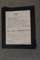 Wo2 Doodsbrief Reserve Luitenant 2 Reg Grenadiers +eben Emael 11/5/1940 - 1939-45