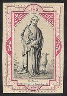 Incisione/engraving/gravure: S. AGNESE - Ediz. Benziger . Einsiedeln - E - RB - Religion & Esotérisme