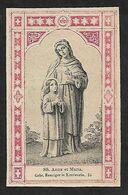 Incisione/engraving/gravure: SS. ANNA E MARIA - Ediz. Benziger - E - RB - Religion & Esotérisme