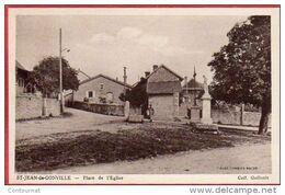CPA 01 ST JEAN DE GONVILLE Place De L' église Saint Canton De  Collonges - Sonstige Gemeinden