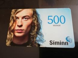 ISLAND 500 KRONER  PREPAID CARD 2009  SIMINN Fine Used **2957** - Iceland