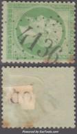 GC 4136 (Verdelais, Gironde (32)), Cote 37.5€ - Marcophilie (Timbres Détachés)