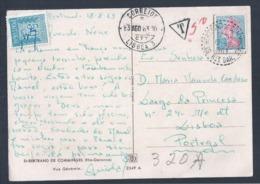 Postal Multado. Raro Triangulo Multa. Stamp De Porteado De 50c.  Postcard Fined. Rare Fine Triangle. 50c Porteado Stamp - 1910-... República