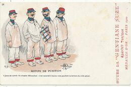 """Albert GUILLAUME - Motifs De Punition,...Humour Militaire - Publicité Apéritif La """"Gentiane SUZE"""" - Guillaume"""