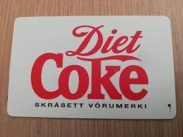 ISLAND 150 KRONER  CHIPCARD  DIET COKE COCA-COLA  Fine Used **2958** - Iceland