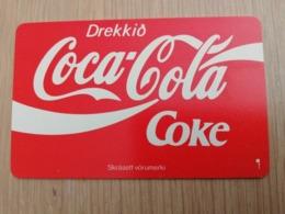 ISLAND 150 KRONER  CHIPCARD  DREKKIO COCA-COLA  Fine Used **2960** - Iceland