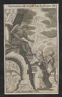Incisione/engraving/gravure: LA MORTE CONSEGNA LA PICCOLA ALL'ANGELO - E - Religion & Esotérisme