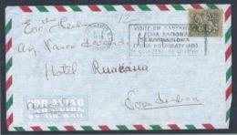 Flâmula Feira Agricultura De Santarém 1968. Carta Hotel Ruakana, Nova Lisboa, Angola. Pennant Santarém Agriculture Fair - 1910-... República