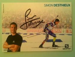 SKI - SIMON DESTHIEUX...Signature...Autographe Véritable....(Salomon) - Handtekening