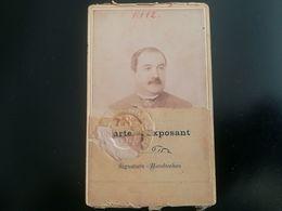CARTE EXPOSANT CDV EXPOSITION UNIVERSELLE ANVERS DE 1894 WERELDTENTOONSTELLING  ANTWERPEN PHOTO BELGIQUE + CARTE POSTALE - Eintrittskarten