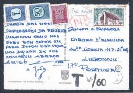 Postal Porteado. Raro T De Porteado. Stamps De Porteado 1$70.  Ported Postcard. Rare T Of Porteado. 1$70 Portable Stamps - 1910-... República