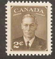 "CANADA YT 237 NEUF** MNH ""GEORGE VI"" ANNÉES 1949/1951 - 1937-1952 Règne De George VI"