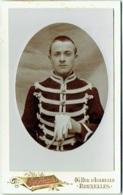 Photo CDV. Militaria. Militaire En Uniforme. Foto Hermès, Bruxelles. - Antiche (ante 1900)